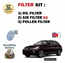 FOR INFINITI EX37 3.7 2009--> NEW OIL AIR (2) POLLEN FILTER KIT SERVICE SET