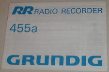Manual de instrucciones/operating instructions Grunding autorradio 455a