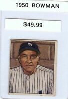 Casey Stengel 1950 50 Bowman #217 Vintage Baseball Card Yankees