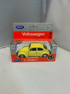 WELLY 1:43 SCALE VW BEETLE YELLOW DIE CAST MODEL CAR