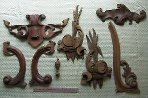 Architectural Carved Wood 7 Antique pieces