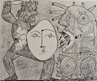 PICASSO - ENGINES OF WAR  - LITHOGRAPH - 1954 -  FREE SHIPPING IN THE US   !!!