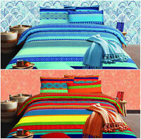 Prism Design Premium Quality Printed Duvet Quilt Cover Bedding Set All Sizes