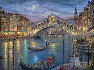 Venice Painting - Colourful Landscape Wall Art Large Poster & Canvas Pictures