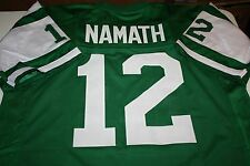 NEW YORK JETS QB JOE NAMATH #12 CUSTOM JERSEY SIZE XXL SUPER BOWL III CHAMPS