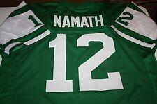 NEW YORK JETS QB JOE NAMATH #12 CUSTOM JERSEY SIZE XXL SUPER BOWL III CHAMPS