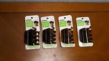 Set of 4 NEW Scunci No Slip Grip Large Jaw Claw Clip hair clips