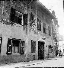 BOLZANO c. 1950 - Via BottaÏ Auberge Italie - Négatif 6 x 6 - ITAL 18