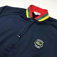 8401b6b525ac Vintage Chemise Lacoste Bomber Jacket Made in France S M Navy Great  Condition