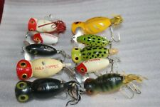 Vintage 10 Top Water Bass Fishing Lures Fred Arbogast + One Other