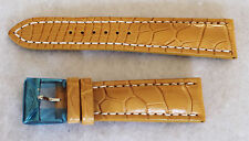 NEW BREITLING 24MM  TAN CROCODILE PATTERN STRAP WITH ORIGINAL TANG BUCKLE 896P