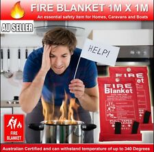 Australian FIRE BLANKET 1 X 1 M Emergency Action Certified up to 340 Degree 2018