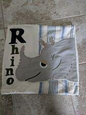Pottery Barn Kids Rhino Pillow Sham Cover 16 X 16 inches