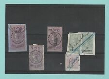 STAMPS - BRITISH -  6  VARIOUS  REVENUE  STAMPS  -  QUEEN  VICTORIA