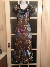 CC Boutique Petite Long Silk Beautiful Dress Immaculate Size 12