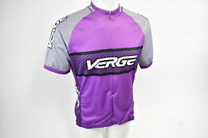 Verge Women's Classic Sport Short Sleeve Cycling Jersey Large Purple/Gray NOS