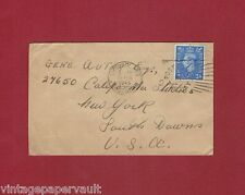 1945 FAN MAIL COVER TO ACTOR/SINGER GENE AUTRY IN CALIFORNIA STUDIOS, NEW YORK??