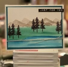 handmade Card Kit Stampin' Up! Watercolor Mountains Waterfront
