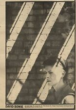 """30/1/82Pgn23 Picture: David Bowie - Best Male Singer  Reader Poll 1981 10X7"""""""