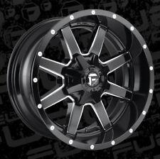 4 D610 Maverick Gloss Black Milled 20x10 ET -24 Wheels Rims 6x135/6x5.5 TITAN