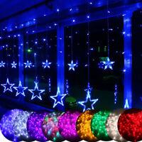 Twinkling Stars Curtain Window Wedding Party Hanging Fairy String Xmas Lights