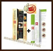 SET Eveline Eyelashes Concentrated Serum Mascara Primer 3in1 + SOS Lash Booster