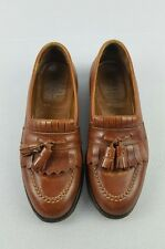 Alden Cognac Brown Leather Kiltie With Tassel Moccasin Loafer Men's Shoes 7 B/D
