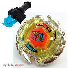 Fusion METAL Beyblade Masters BB-56 Killer / Evil Gemios+BLUE LAUNCHER+GRIP