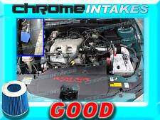 BLACK BLUE 97 98 99 00 01-03 CHEVY MALIBU 3.1 3.1L V6 FULL COLD AIR INTAKE 3pc