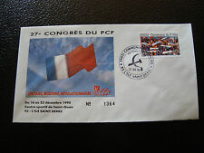 FRANCE - enveloppe 21/12/1990 27e congres du PCF (cy7) french (P)