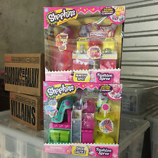Shopkins Fashion Spree Shoe Dazzle & Makeup Spot 4 Exclusives Set of 2 HTF R2S