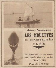 Z8160 Bateaux Pneumatiques LES MOUETTES - Pubblicità d'epoca - 1930 Old advert