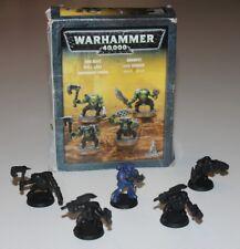 WARHAMMER 40k ORK BOYZ 4 Miniatures + Extra Space Marine Citadel Boxed Set #Xmas