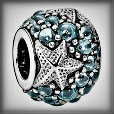 Genuine PANDORA Oceanic Starfish Blue charm Silver S925 ALE 791905CZF