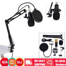 New BM800 Condenser Microphone with Mic Suspension Scissor Arm Stand Shock Mount