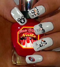 Oakland Raiders Mickey Nail Art Waterslide Nail Decals Set of OR-002-57