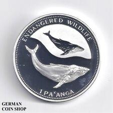 Tonga 1995 1 Pa'anga Buckelwal Silber PP - silver proof humpback whale