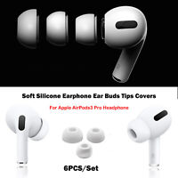 6Pcs/Set Soft Silicone Earphone Earbuds Tips Cover For AirPods 3 Pro Headphone