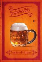Deutsches Bier Blechschild Schild gewölbt Metal Tin Sign 20 x 30 cm SM0005