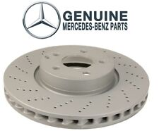 Front Vented Cross Drilled Disc Brake Rotor Genuine For Mercedes W204 C207 W212