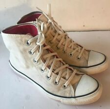 Converse CT High Top Trainers Cream Red Lining & Red Sole Womens UK 8