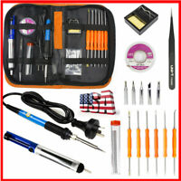 19IN1 Electric Soldering Iron Tools Kit 110V 60W Welding Pumps Repair Hand Set