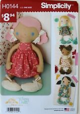 "SImplicity H0144 Walmart Exclusive 15"" Doll & Clothes Sewing Pattern"