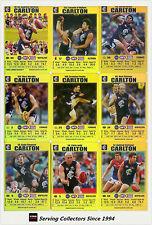 2008 AFL Teamcoach Trading Card Gold Team Set Carlton (12)