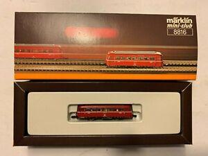 Märklin mini club 8816 + 8817 Schienenbus mit Beiwagen, mit OVP, Schnäppchen !!!