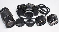 Lot of 4 Pentax MV-1 Camera & Pentax M 50mm F2 & 75-150mm F4 & 50mm F1.4 Lens