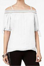 Thalia Sodi Ladies Off The Shoulder Tie sleeve Pullover Top Size Medium rrp38