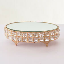 Luxury Gold Wedding Cake Stand Metal Crystal Cake Holder for Birthday Party