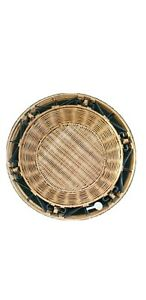 Princess House Casual Home Set of 4 Metal Rattan Wicker Plate Chargers