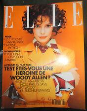 Vtg Elle French 2/1991 Christopher Lambert Mia Farrow Woody Allen Surya Bonaly